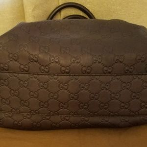 Gucci Bags - Gucci Sukey Brown Leather Shoulder Bag